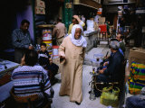 Street Traders in Grand Bazaar Khan Al-Khalili  Cairo  Egypt