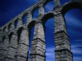 Section of Aqueduct of Segovia  Segovia  Spain