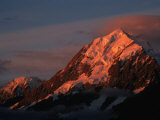 Mt Cook at Sunset from Hermitage  Mt Cook National Park  Canterbury  New Zealand