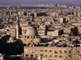 Overhead of the Roofs  Buildings  Domes and Towers of Aleppo from the Ramparts the Citadel  Syria