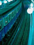 Train at Metro Station in Cite  Paris  France