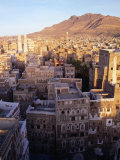 Overhead of Rooftops and Buildings of Town  San'a  Yemen