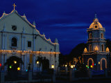 Christmas Lighting on the Cathedral of St Paul and Tower  Vigan  Philippines