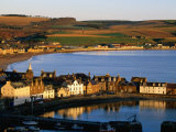 Town Buildings Overlooking Harbour  Stonehaven  United Kingdom