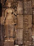 Detailed Carving at Bayon Angkor  Siem Reap  Cambodia