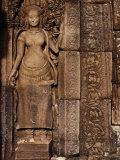 Detailed Carving at Bayon Angkor  Siem Reap  Cambodia
