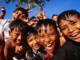 Exuberant Children  Nusa Dua  Bali  Indonesia