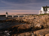 Marshall Point Lighthouse and House on Port Clyde  Maine  USA