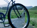 Cyclists Seen Through Bicycle  Hana  USA