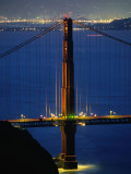 Golden Gate Bridge at Night  San Francisco  California  USA
