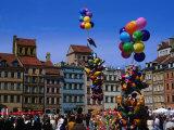 Balloons in the Old Town Square (Rynek Starego Miasta)  Warsaw  Poland