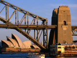 Sydney Opera House Framed by Harbour Bridge  Sydney  Australia