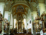 Interior of Rococo Chapel of St Salvator  Regensburg  Germany