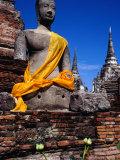 Seated Buddha of Wat Phra Si Sanphet in Ayuthaya Historical Park  Ayuthaya  Thailand