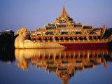 Floating Royal Barge  Karaweik  on Lake Kandawgyi  Mandalay  Myanmar (Burma)