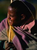 Young Shepherd Boy in Highlands  Early Morning  Simien Mountains National Park  Ethiopia