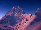 Sunset on Southwest Face of Nevado Alpamayo  Cordillera Blanca  Ancash  Peru