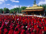 Monks and Nuns at Dalai Lama Sermon  Choglamsar  Ladakh  India