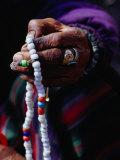 Loba Nomad Counting Prayer Beads  Yak Kharka Kosi  Nepal