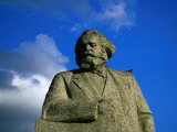Karl Marx Statue on Teatralnaya Square  Moscow  Russia
