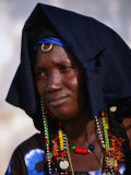 Portrait of Woman in Traditional Marriage Dress  Soma  Gambia
