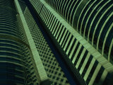 Detail of Skyscraper Facade on Exchange Square  Hong Kong