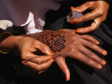 Arabic Swahili Henna Design Being Made  Lamu  Kenya
