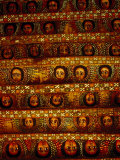 Pattern of Painted Faces on Ceiling of Debre Birhan Selassie Church  Gondar  Ethiopia