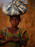 Girl Near Guinguette Springs  Looking at Camera  Bobo-Dioulasso  Burkina Faso