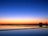 Sunset Over the Saltpans Outside Trapani  Sicily  Italy