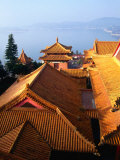 Rooftop of Wenwu Temple  Sun Moon Lake  Taiwan
