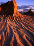 Detail of Walls of China  Mungo National Park  Australia