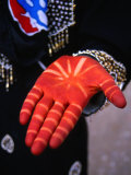 Henna Decorated Hand of Afghani Girl  Mahan  Kerman  Iran