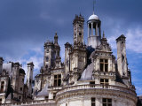 Detail of Roof Terraces of Chateau De Chambord in Loire Valley  Chambord  France