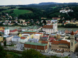 City on Banks of River Inn  Passau  Germany