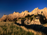 Badlands Loop Road and Rock Hills  Badlands National Park  South Dakota  USA