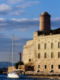 Sail Boat Passing Fort Saint-Jean  Marseille  France