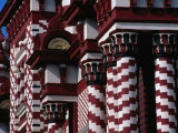 Detail of Striped Jami-Ul-Alfar Mosque in Pettah Bazaar Area  Colombo  Sri Lanka
