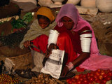 Women Selling Vegetables and Nuts at Jaisalmer Street Market  Jaisalmer  Rajasthan  India