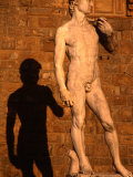 Copy of Michelangelo&#39;s David Standing Outside Palazzo Vecchio on Piazza Della Signoria  Italy