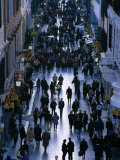 People Walk the Via Condotti as Seen from the Spanish Steps  Rome  Italy