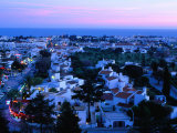 View Over the Town at Dusk  Albufeira  Algarve  Portugal