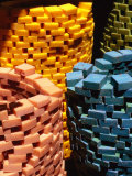 Colourful Piles of Soap for Sale at Souq  Tripoli  Lebanon