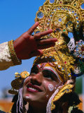 Performer Plays Krishna at Holi Festivities  Jaipur  India