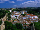 Fortified Hilltop Village  Obidos  Portugal