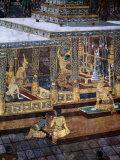 Detail of Mural in the Grand Palace  Bangkok  Thailand