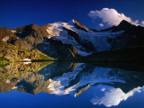 Reflection of Wilder-Freiger on Stubai Hohenweg Walking Route  Tirol  Austria