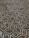 Mosaic Floor in Roman Ruins  Conimbriga  Portugal