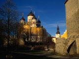 Exteriors of Alexander Nevsky Cathedral and Lutheran Toomkirk  Tallinn  Estonia