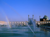 Fountain with Rainbow Outside Masjed-E Emam  Esfahan  Iran